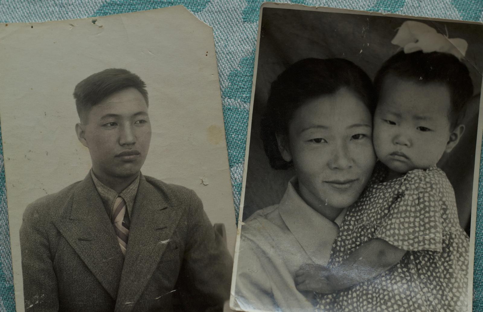 Konstantin Ten and Galina Lee, Nikolay's parents, with his elder sister