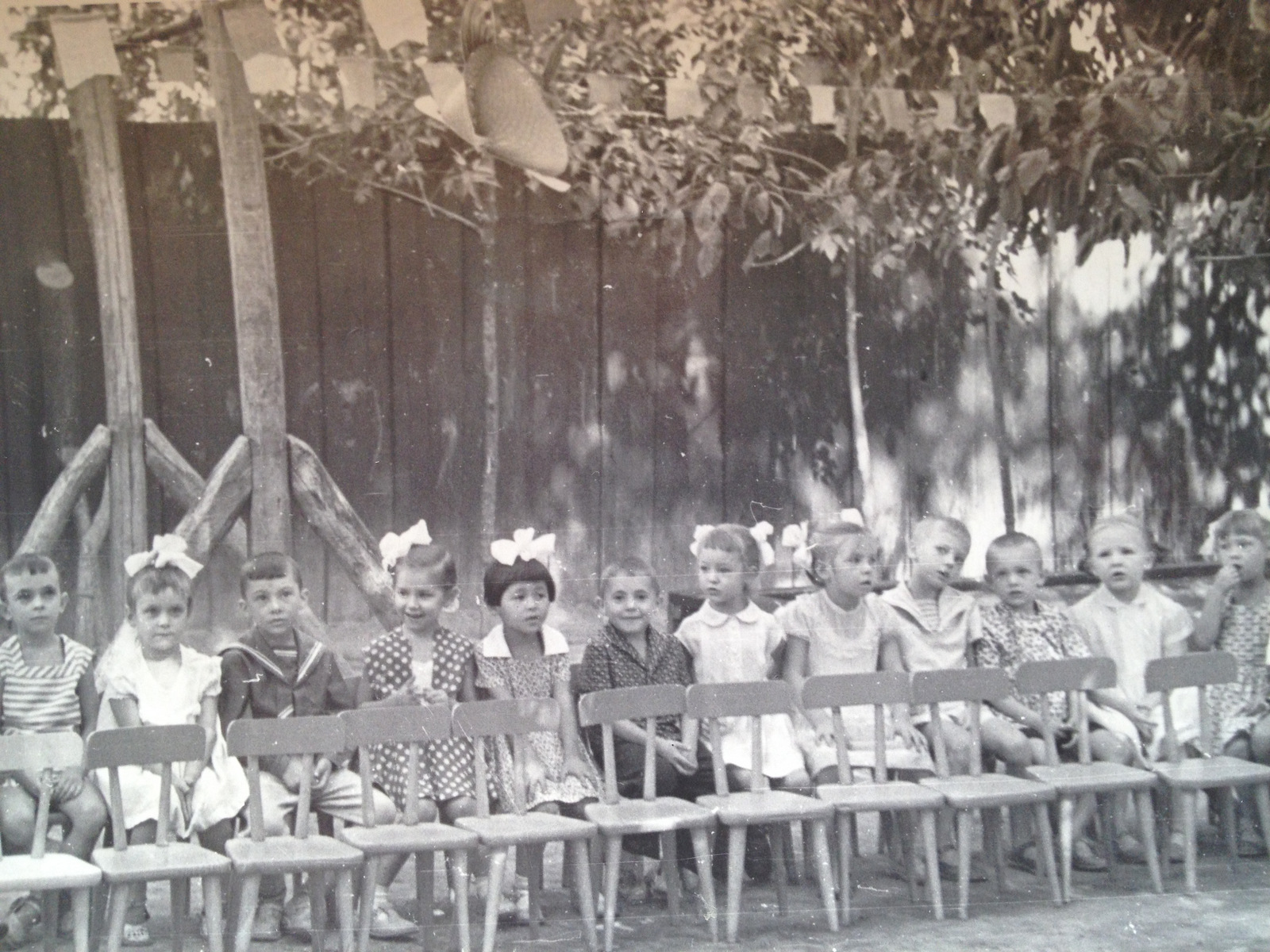 My Mom, a half-Korean child among multi-ethnic kids from all over Soviet Unionin a Tashkent kindergarten in the early 1960s.
