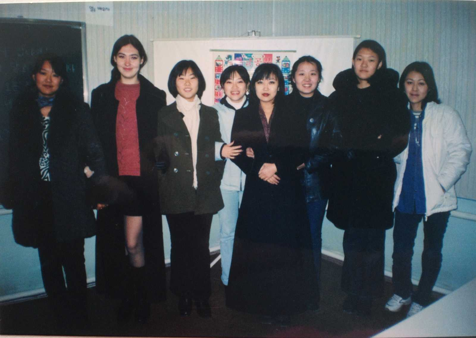 Studying Korean together with my Korean classmates in Tashkent in the early 2000s