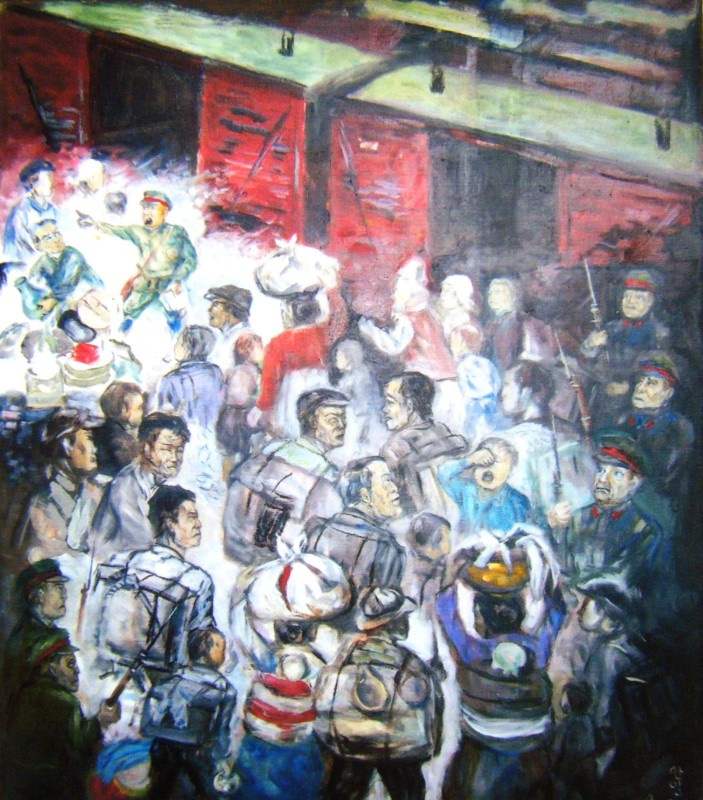 The deportation of Koreans from the Soviet Far East to Central Asia in1937 (as imagined by a Korean painter)