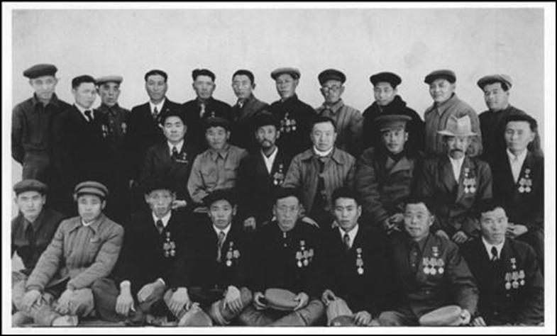 Uzbek Korean heroes of socialist labor in the late 1940s - early 1950s.