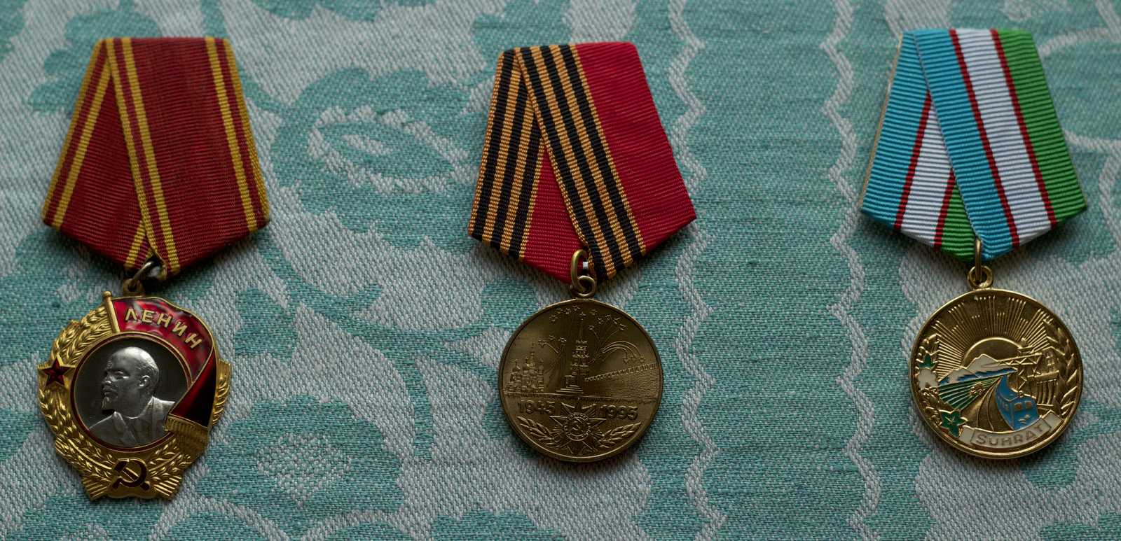 Nikolay's parents' medals and state awards